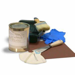 Herramientas para decapar pintura y decapante